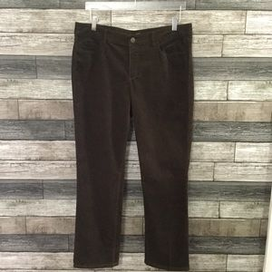 Loft curvy straight brown corduroy pants 12